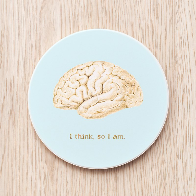 Brain custom ceramic coaster / doctor physician nurse caregiver gift gift head