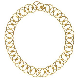 New classical art circle necklace