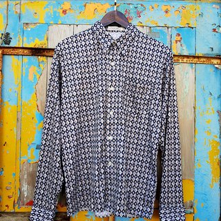 Turtle Gege - BULEWAY Blue Label DISCO geometry vintage shirt VINTAGE