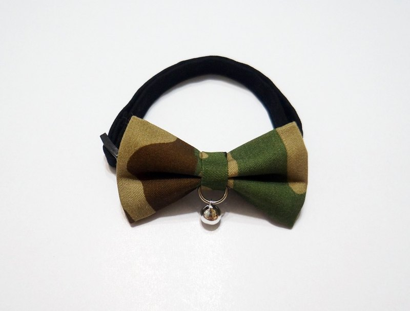 [Miya ko.] Handmade cloth grocery cats and dogs tie / tweeted / bow / handsome / wind camouflage / military / pet collar / collar