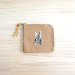 [Q-cute] Washed Kraft Paper Series - Short Clip - Bunny Head / Custom