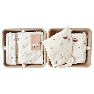 [SISSO Organic Cotton] Forest Baby Good Baby Gift Box 3M