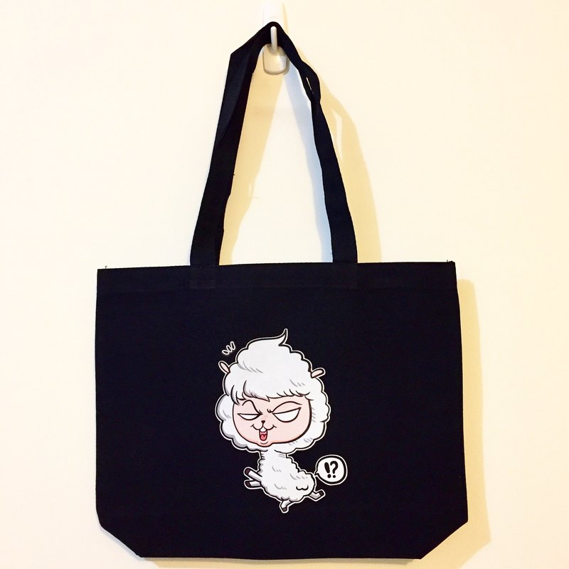 Mud horse farting black canvas bag