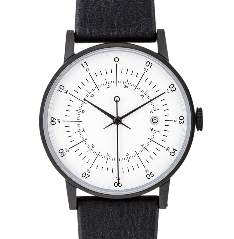 Nordic Swedish design watch with Arctic ring reindeer leather strap SQ38 Plano PS-10
