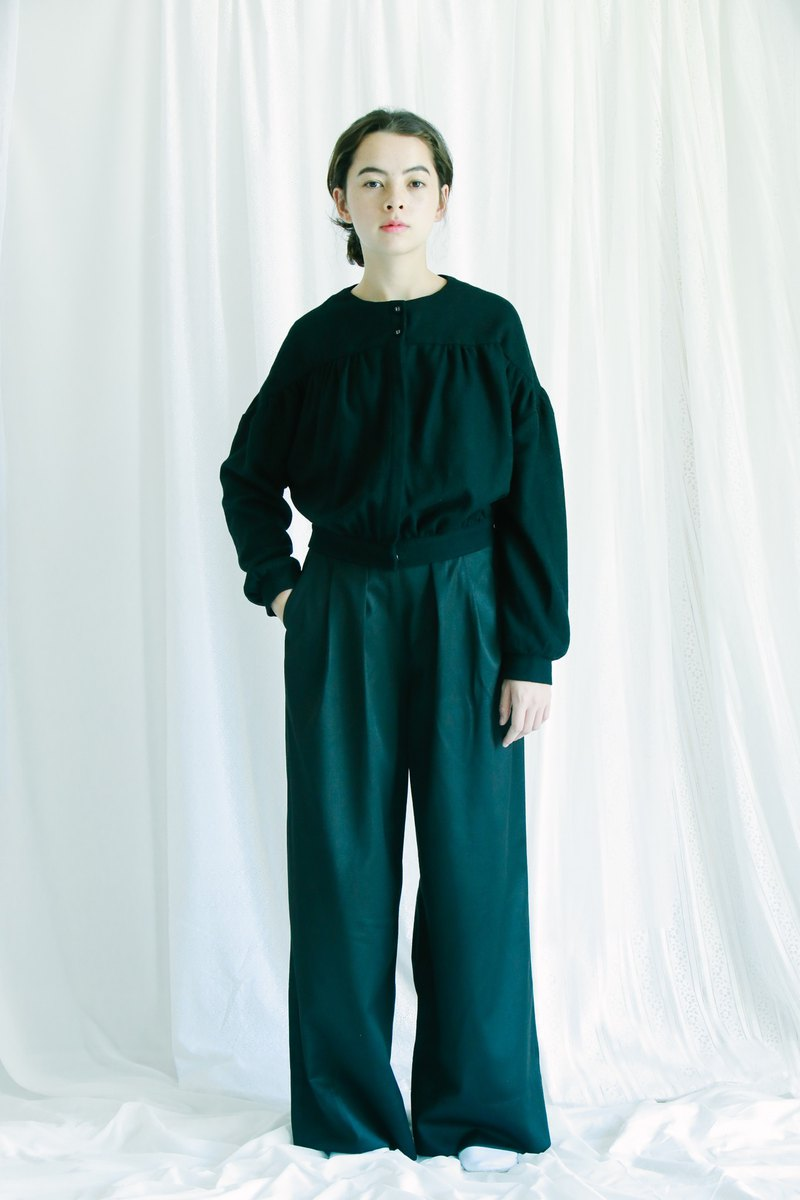 fishtail back wide-leg pants