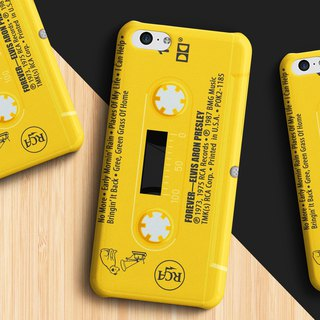 Elvis Presley Cassette - Yellow Phone case