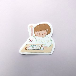 Stationery Freak Sticker