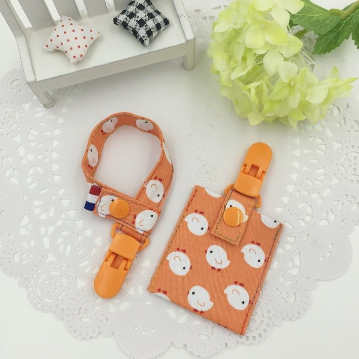 C65-pacifier chain + peace bag value-for-money package set of moon must-have vanilla pacifier to send name
