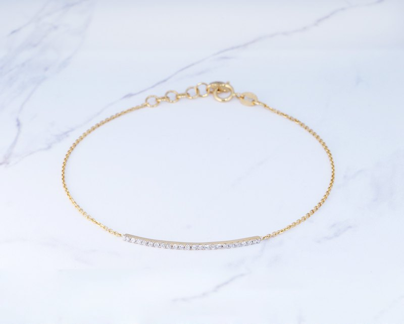 18K gold rate style diamond bracelet