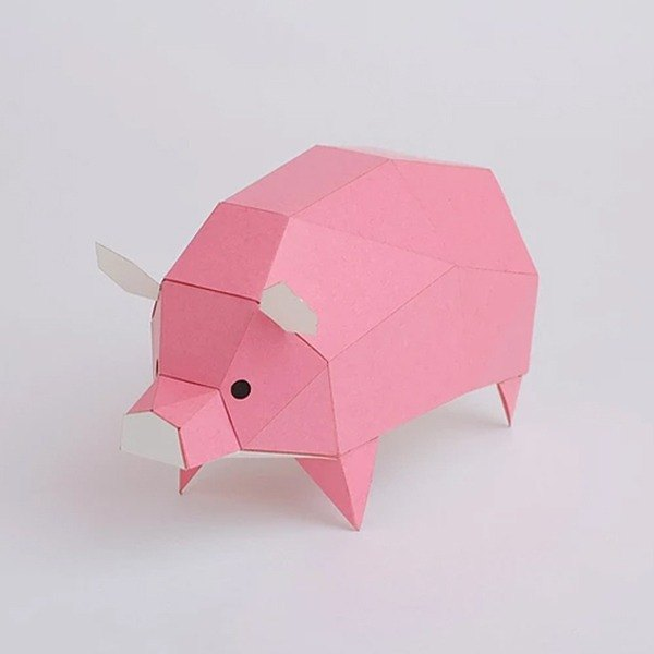 Bog craft three-dimensional animal paper Pig - pig Ss small stand-up TINY
