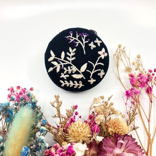 Embroidered Macaron Coin Purse / Headphone Bag / Jewelry Box / Pendant