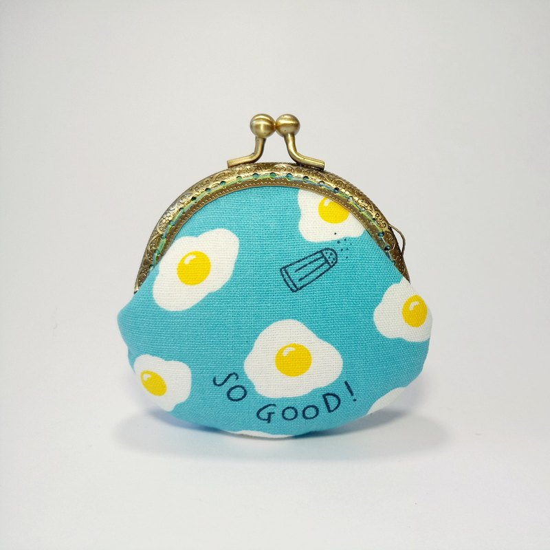 [Come to eat me-blue] mouth gold bag purse clutch bag Christmas exchange gift