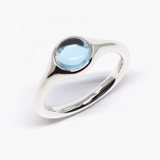 Minimal sky blue topaz ring【Pio by Parakee】托帕石戒指