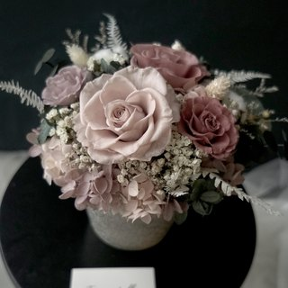 Opening ceremony Morandi color rose / Hydrangea eternal flower / not withered flowers imported silver porcelain table flowers