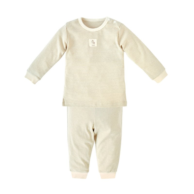 [SISSO Organic Cotton] Soft Strip Home Set (Green Strip) 2A 3A