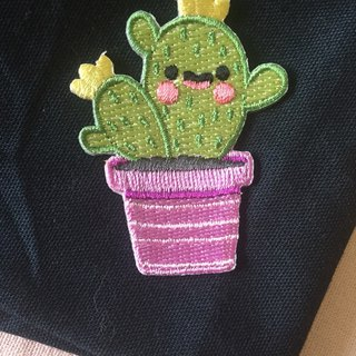 Good mood cactus self-adhesive embroidered cloth paste - healing cactus series