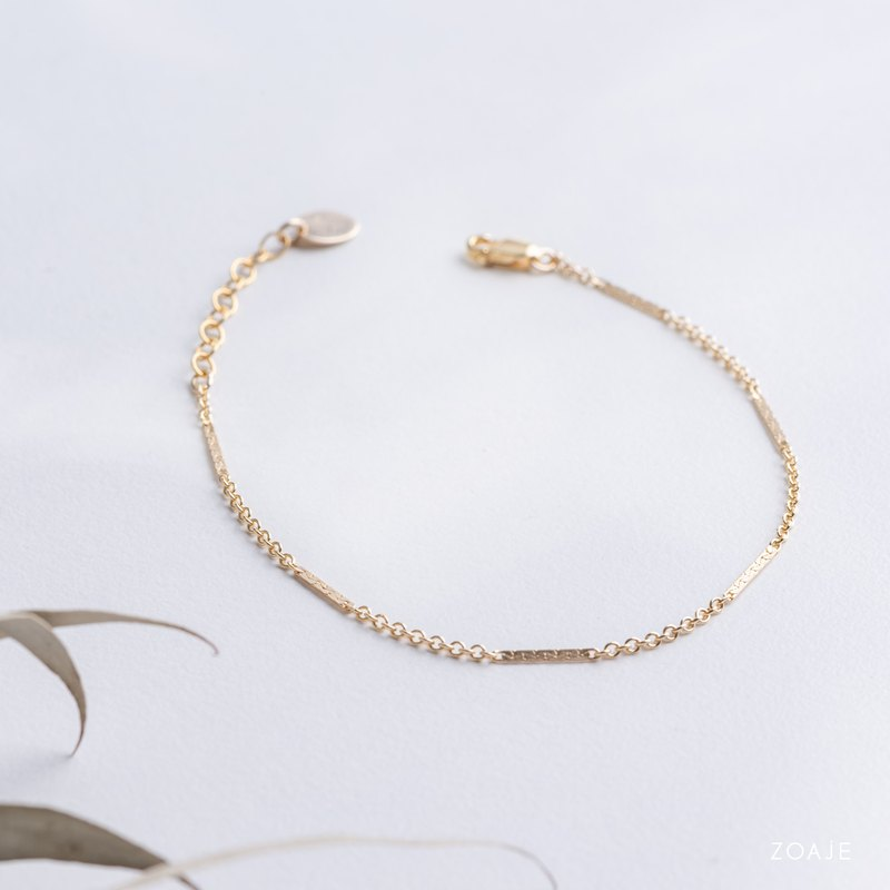 OMAN dainty 14k gold filled chain bracelet, Layering bracelet, Stacking bracelet