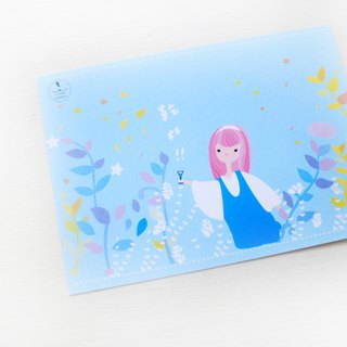 Midsummer afternoon tea party card & brand limited illustration card