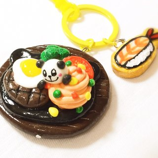 QQ panda steak keychain (can be changed magnet) ((over 600 were sent mysterious small gift))