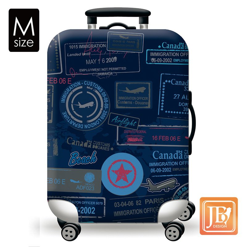 Colorful suitcase set - philatelic travel (M)