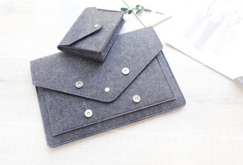 Customized felt computer protective cover pen electric bag computer bag new Macbook 12吋145