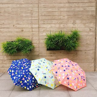 [Taiwan's Cultural Rain's talk] Flower Yang anti-UV UV half folded umbrella