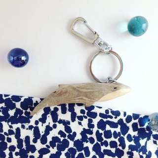 Marine Series*Blue Whale*Handmade wooden key ring / strap