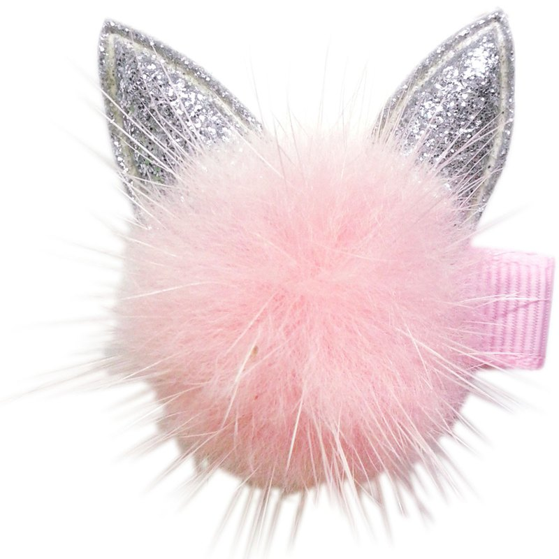 Mane cat hair clip all-inclusive cloth handmade hair accessories Marten Hair Cat-Peach