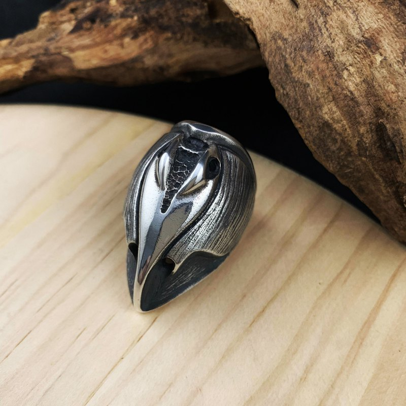 Can God Series - [Ma Yi] 925 Sterling Silver Ring (Squid / Bird)
