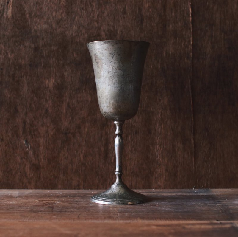 Silver alloy high wine glass _ big
