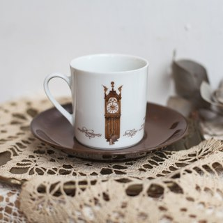 [Good day fetish] 5 German vintage retro antique clock commemorative coffee cup set