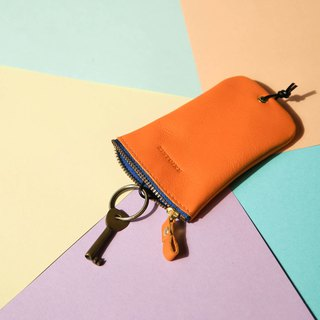 [Keys' Sweet Home / Key Case] ​​Sunshine Orange (Blue Zipper) Orange