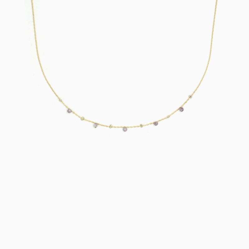 Amethyst Twinkle Necklace - Choker Necklace - Gemstone Necklace - Satellite
