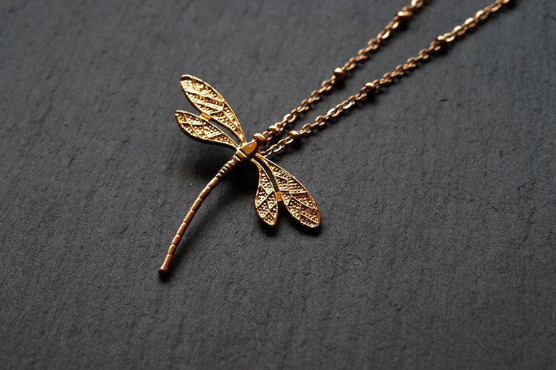 dragonfly necklace - 316L stainless steel Chain