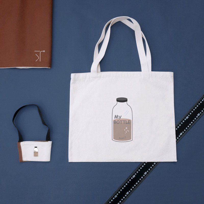 [kuroi-T]Environmental two-piece group drink cup set + tote bag