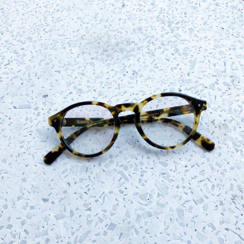 86ce4b78de97 Tokyo Yellow Tortoise Black Boston Shape eyeglasses frame eyewear Handmade  in Japan - Designer elements-eyewear   Pinkoi