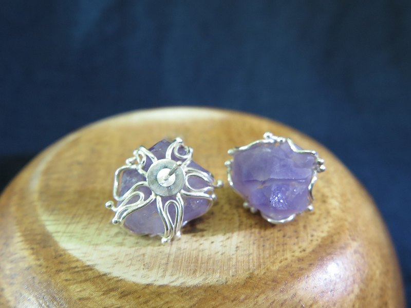 Dream Amethyst - Sterling Silver Earrings