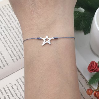 *Le Bonheur happy Line line*925 sterling silver star ice-breaking step forward step the unexpected star red string bracelet super thin hand rope line marriage