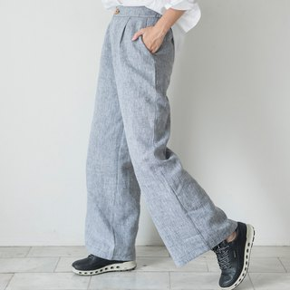 Smart Grey Linen Trousers