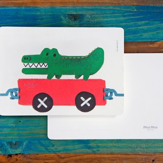 mumu-purpose card / postcard - small crocodile
