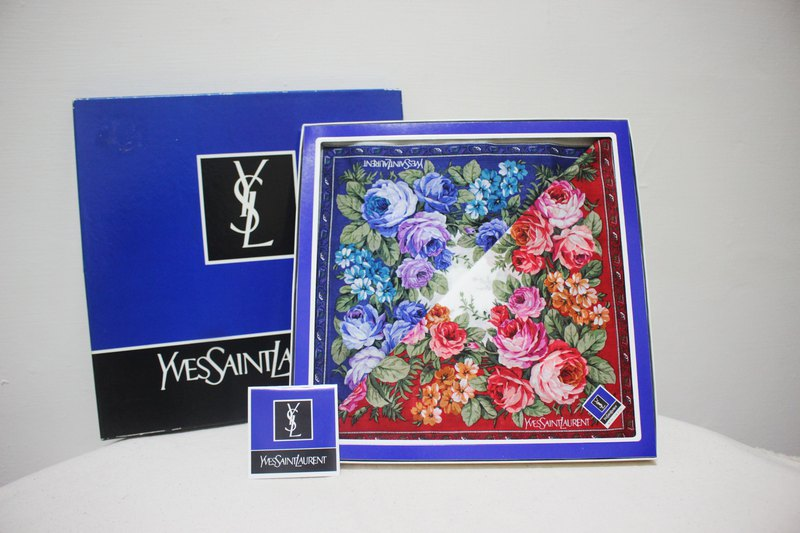 Japan brought back Japanese made Vintage antique brand new Tokyo made YSL100% cotton handkerchief (birthday gift)
