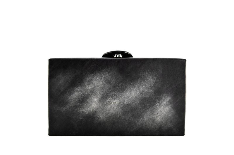 ACROMO Black Box Clutch Bag