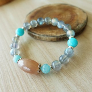 Summer Dream | Orange Moonstone labradorite Peru Tianhe stone elastic bracelet