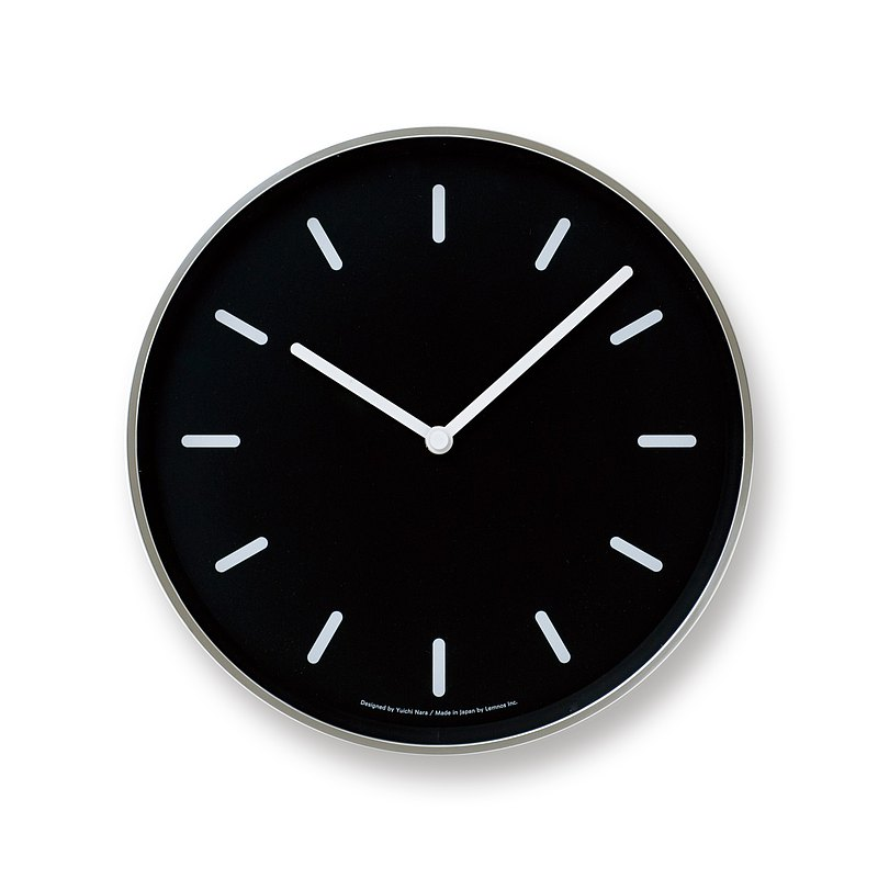 Lemnos Mono B Clock - Black