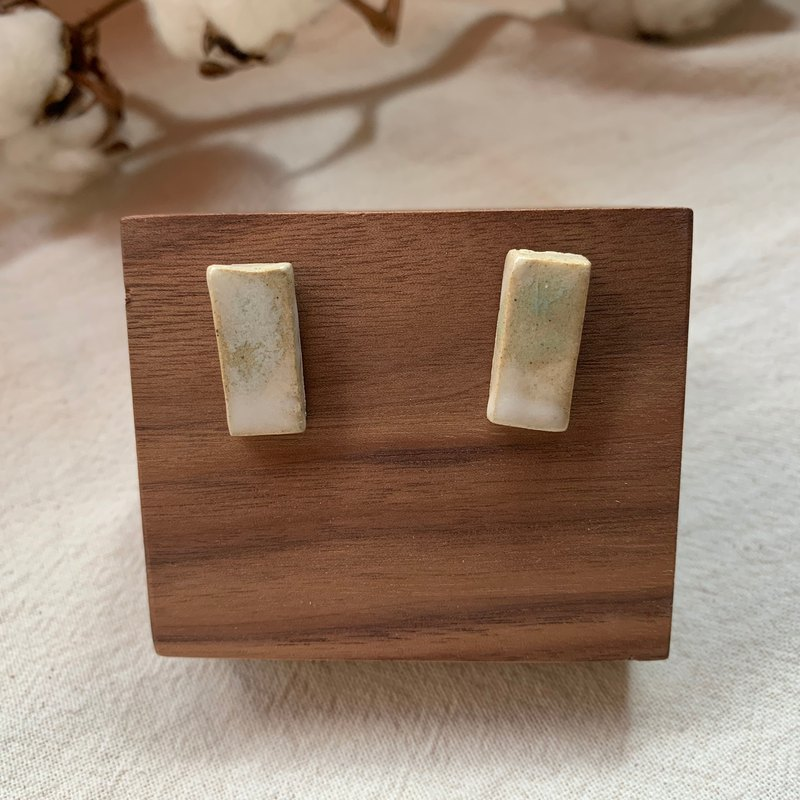 Clay rectangle earrings 20