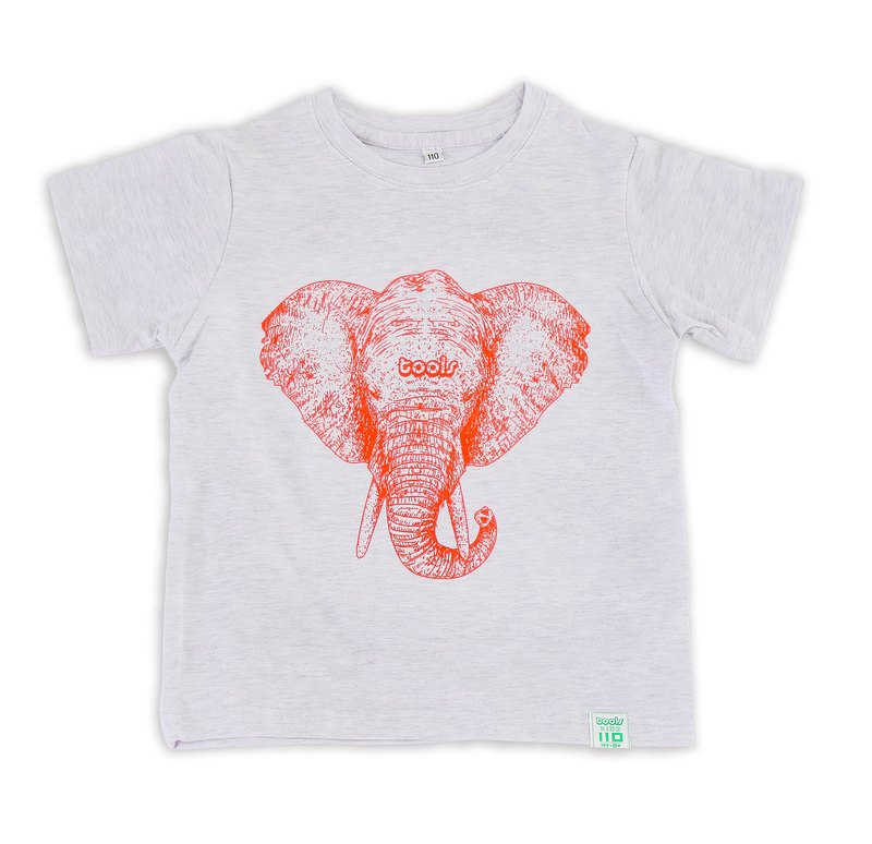 Tools cotton children's clothing gray elephant 170302