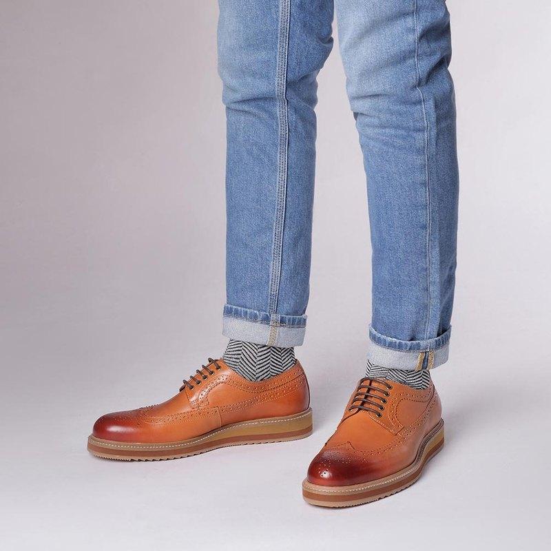 Vanger 輕旅長翼紋德比休閒鞋 Va245褐