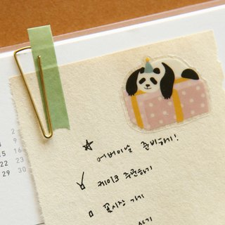 Beautiful decorative transparent stickers - 33 panda, E2D14872