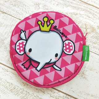 """Balloon"" light waterproof round storage bag - crown icon"