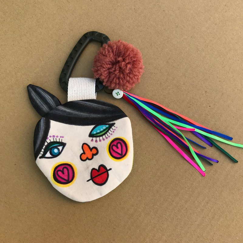 Dolly Head hand-painted sister head (tweeted) purse / small bag-DH005